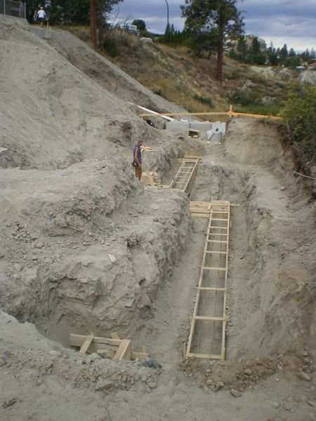 Foundation Footings  Summerland Builder 2009