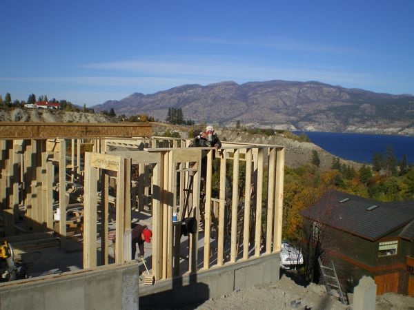 Framing  Bristow Road Summerland B Yargeau Contracting
