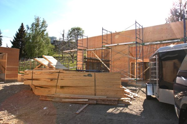 Garage ready for trusses  Canyonview Construction