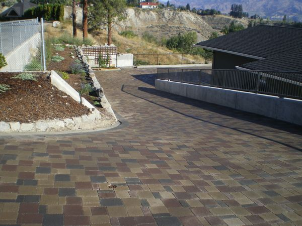Driveway finished with paving stones  bristow road summerland bc