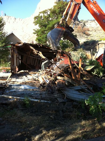 demolishing old house summerland bc