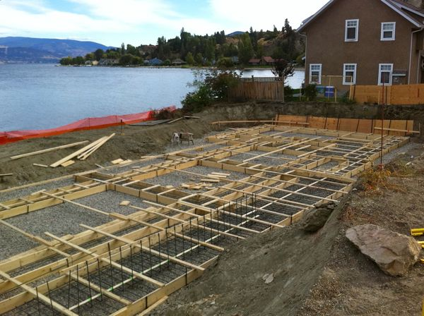 Footings Lakeshore Home Summerland