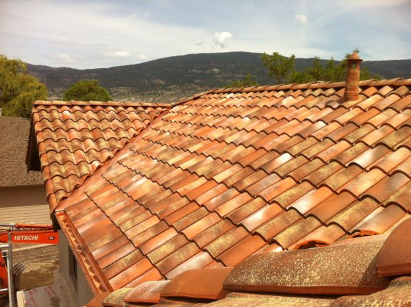 tile roof from italy  summerland lakeshore home