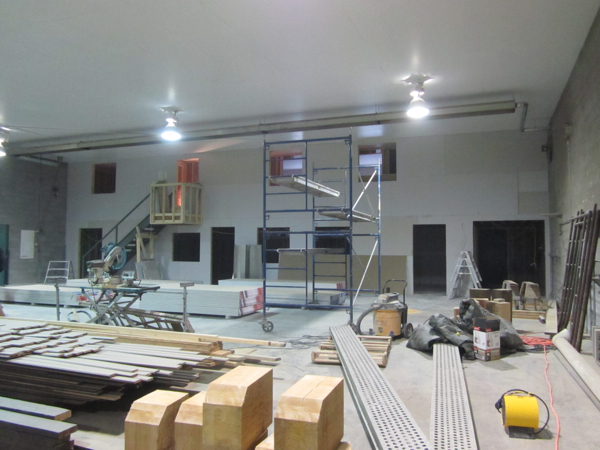 Drywall in commercial building in Summerland