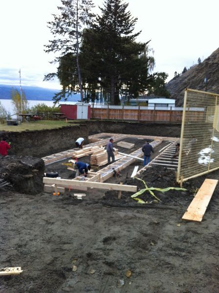footings formed canyonview construction