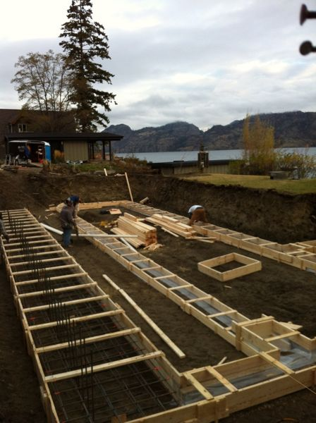 footings ready for concrete north beach summerland