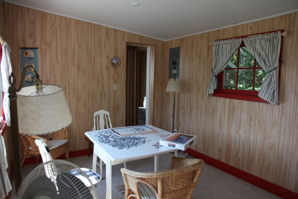 inside of cabin north beach summerland