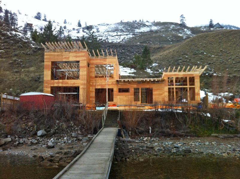 Roof - North Beach Job Custom Home Builder Canyonview Construction Ltd